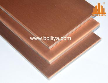 CC-004 Light Brown Copper Composite Panel Cladding (Aged surface)